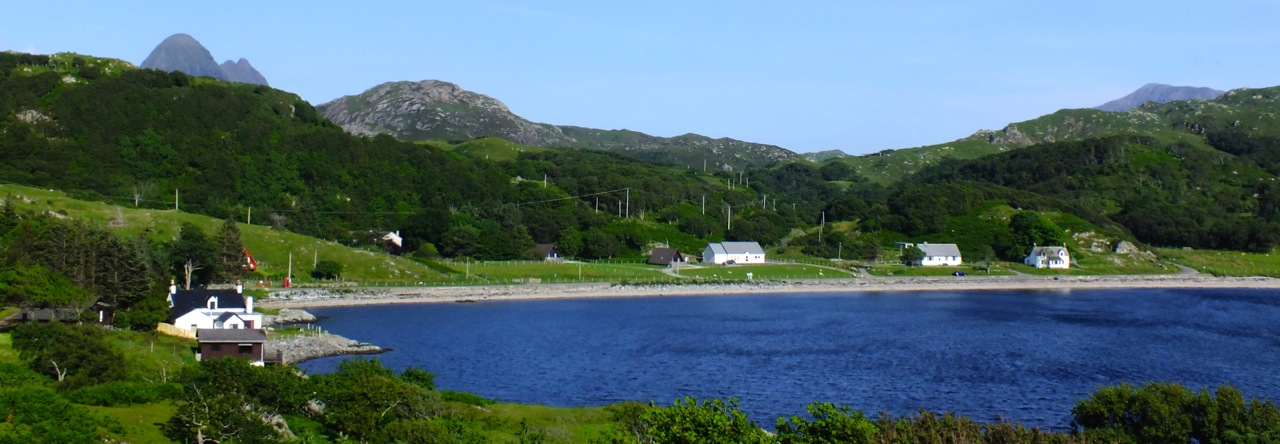 View of Inverkirkaig Bay