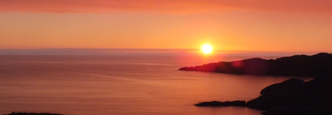 Sunset from Achmelvich Bay